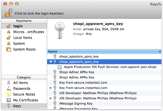 Importing An APNs Certificate Into A Java Keystore - Sapient Pair